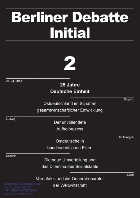 Cover von 25 Jahre Deutsche Einheit: Ostdeutschlands fragmentierte Integration