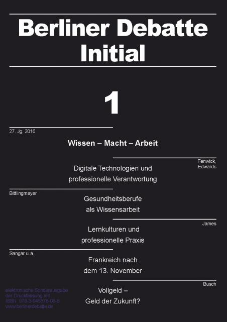 Cover von Wissen – Macht – Arbeit. Professionen und Wissensberufe im Wandel