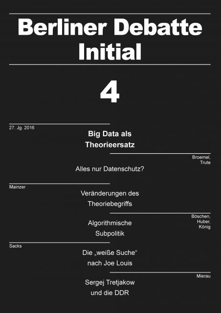 Cover von Big Data als Theorieersatz