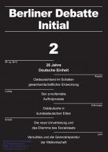 """Schwerpunkt """"25 Jahre Deutsche Einheit – Ostdeutschlands fragmentierte Integration"""""""