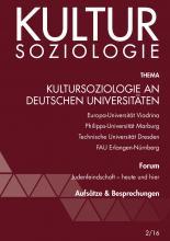 Kultursoziologie an deutschen Universitäten