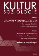 25 Jahre Kultursoziologie